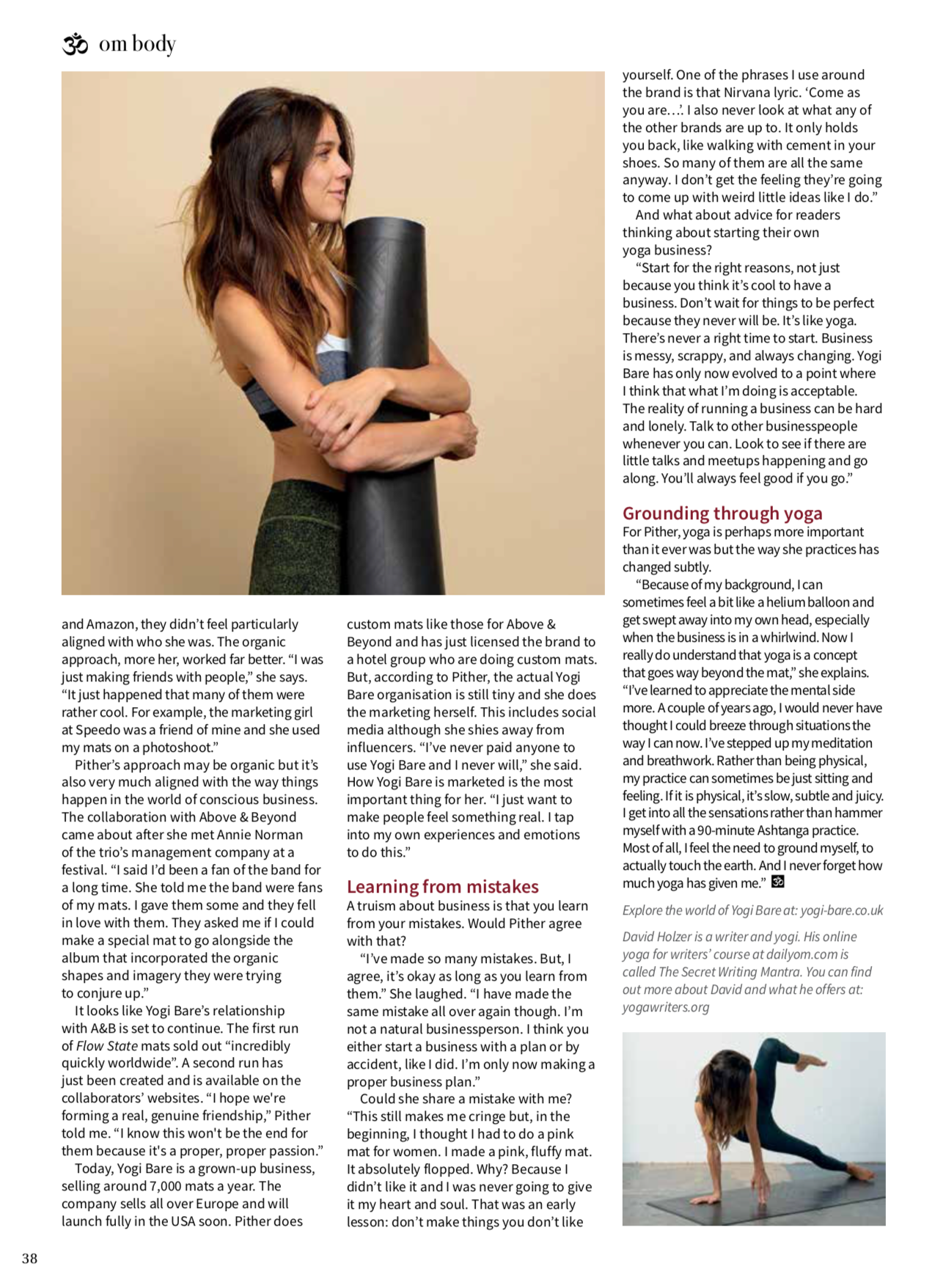 om magazine interview feature