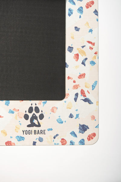Yogi Bare® Teddy Yoga Mat. Terrazzo. Travel. Sweat.-Yoga Mat-Yogi Bare