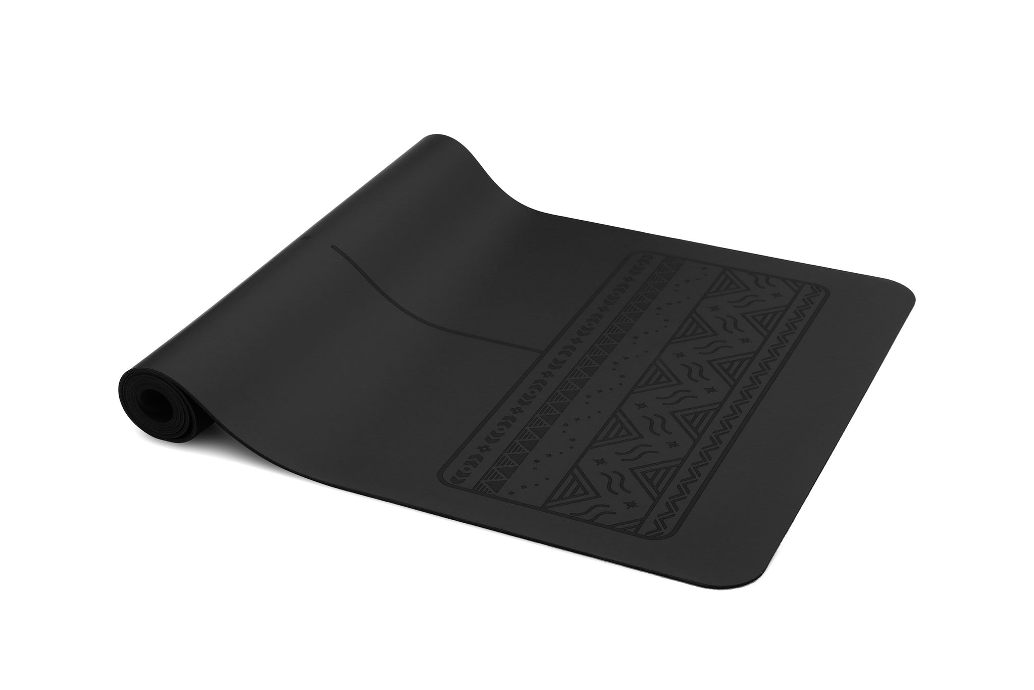 Paws - Natural rubber extreme grip yoga mat black
