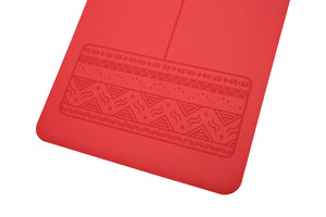 Paws - Natural rubber extreme grip yoga mat red