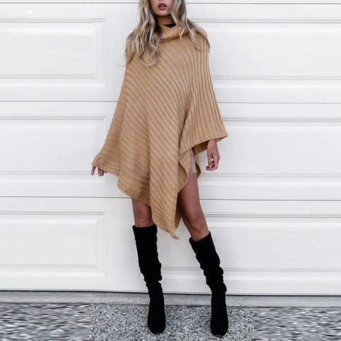 Knit sweater poncho color options