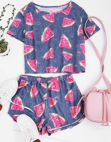 sweet watermelon 2 piece set