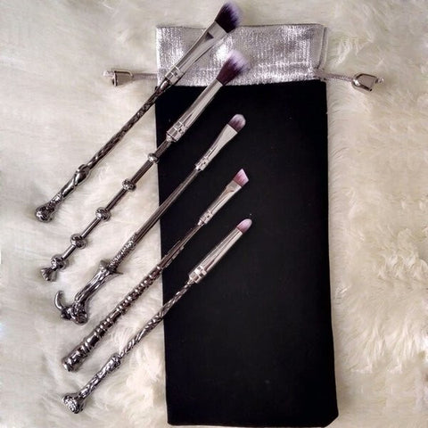 Harry potter wand 5 piece brush set