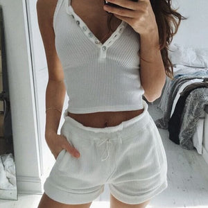 pretty in white 2 piece set