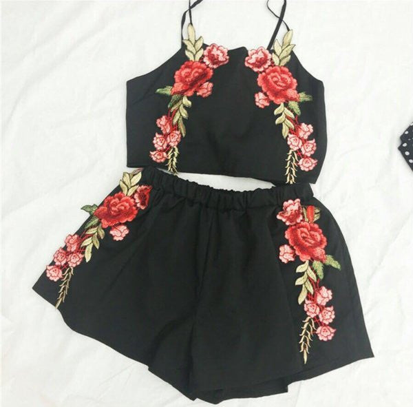 Black Sweet Roses 2 piece set