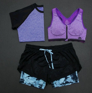 Purple Marble Workout Outfit Set