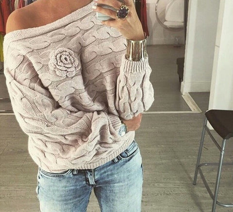 Rose Ruffle Sweater
