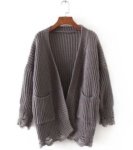 Distressed Knit Cardigan Color Options