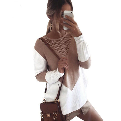 Oversized Colorblock Sweater Color Options