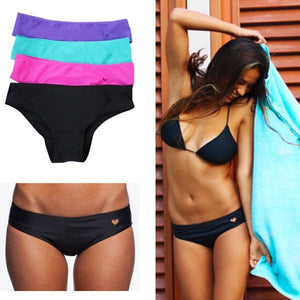 Heart cut out bikini bottoms