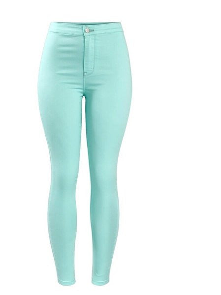 mint denim jeans