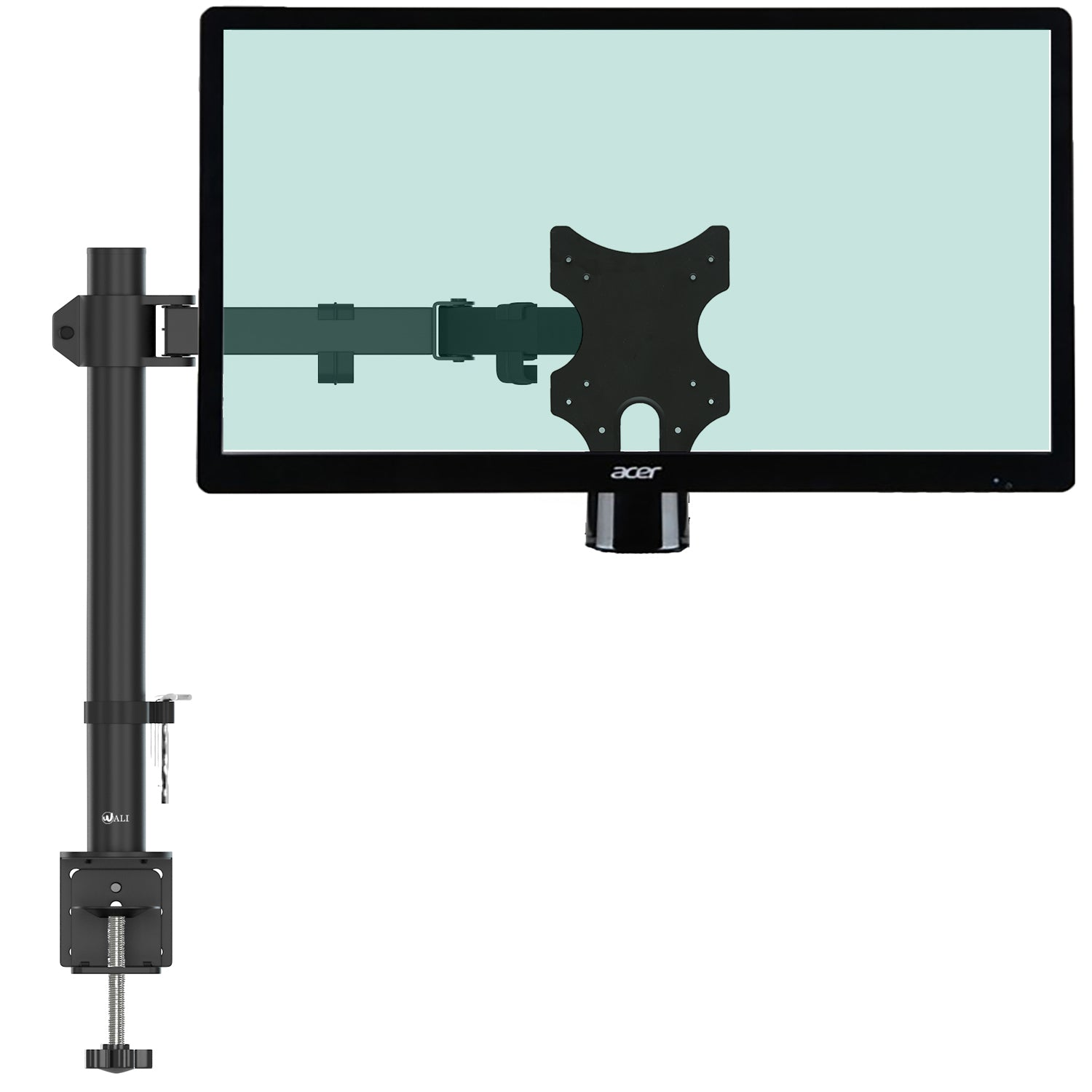 Tv lcd monitor wall mount bracket fits up to 39 holds up for Motorized full motion tv wall mount