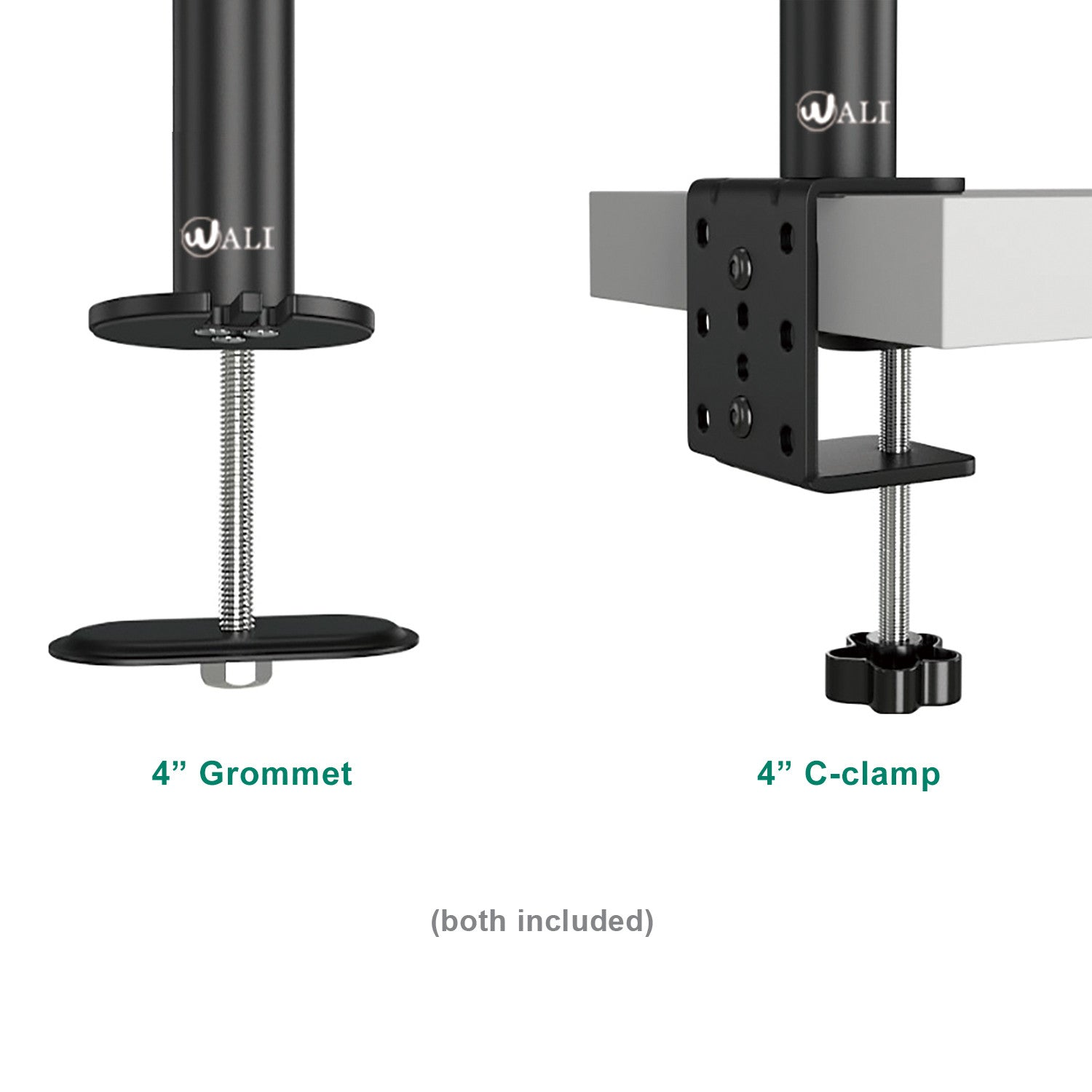 Dual Lcd Monitor Desk Mount 31 5 Extra Tall Fully Adjustable Stand