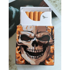 Skull Cigarette Tobacco Case Tobacco The Mighty Skull ™ Flame Skull