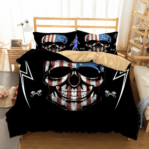 American Skull Bedding Set bedding set The Mighty Skull ™ US twin