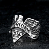 American Biker Eagle Ring ring The Mighty Skull ™ 8 steel color