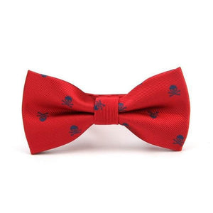 Skull Bow Tie The Mighty Skull ™ wine red