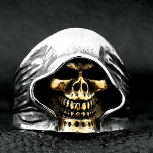 Death Skull Ring ring The Mighty Skull ™ 7 part plated gold
