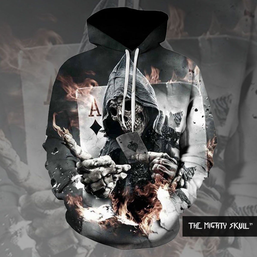 Poker Skull Hoodies hoodies The Mighty Skull ™ 4XL