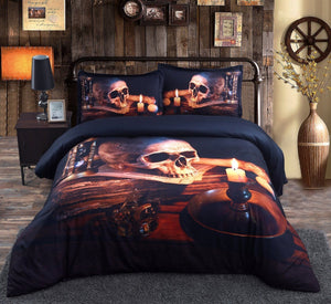Night Flame Bedding set bedding set The Mighty Skull ™ Full