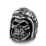 Skull Biker Ring ring The Mighty Skull ™ 7 silver colour
