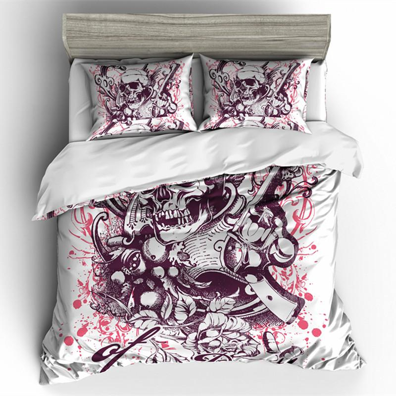 Plum Skull Bedding Set bedding set The Mighty Skull ™