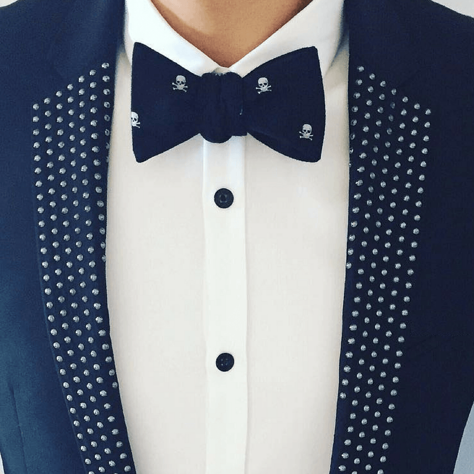 Skull Bow Tie The Mighty Skull ™ Navy