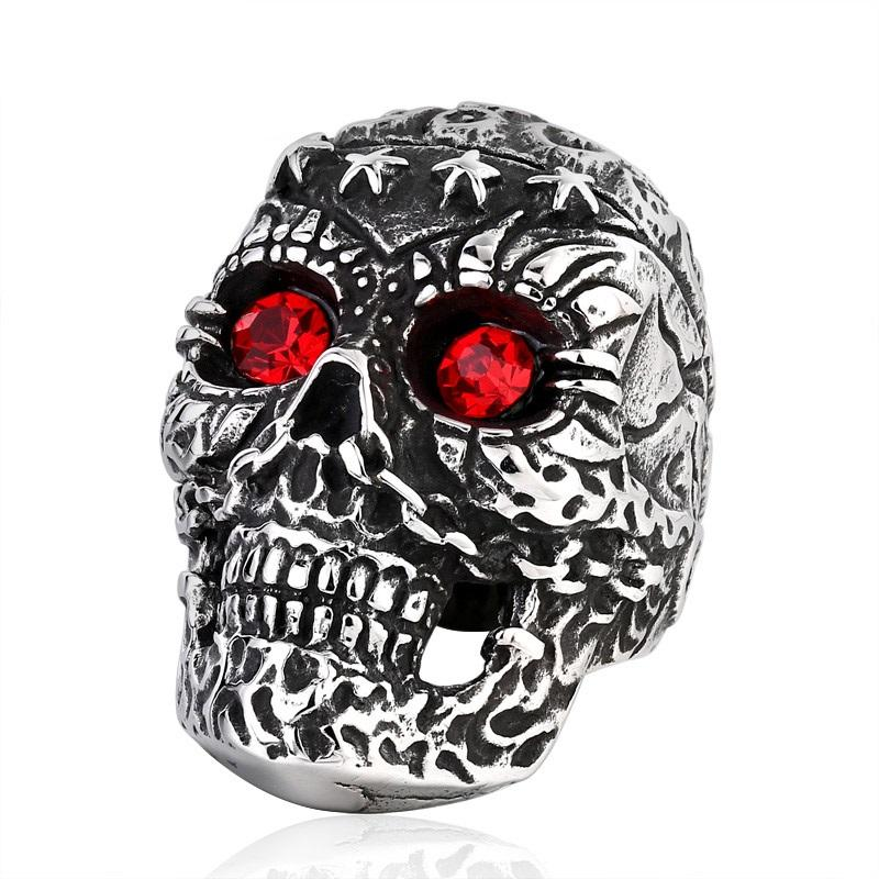 Punk Skull Ring ring The Mighty Skull ™ 7 red eye