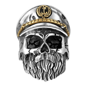 Navy Skull Soldier Ring ring The Mighty Skull ™