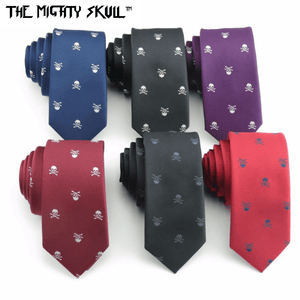 Skull Crossbones Necktie The Mighty Skull ™ 01 Navy