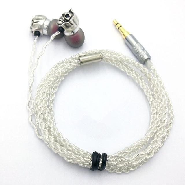TMS Skull Earphone The Mighty Skull ™ RY10 silver cable
