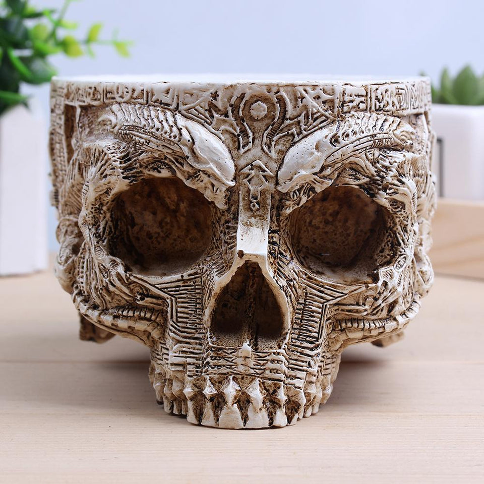 Gothic Skull Planter Decorative The Mighty Skull ™