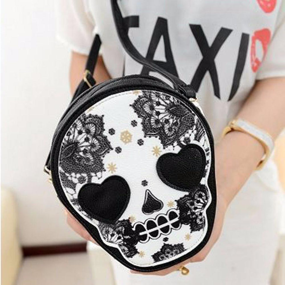 Skull Floral Bag bag The Mighty Skull ™