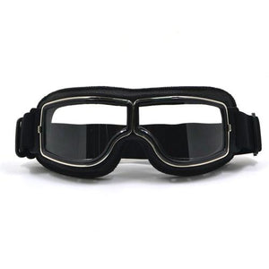 TMS Leather Retro Goggles The Mighty Skull ™ Model 1