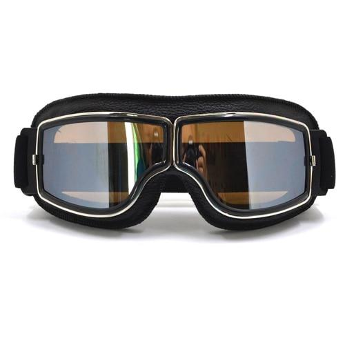 TMS Leather Retro Goggles The Mighty Skull ™ Model 3