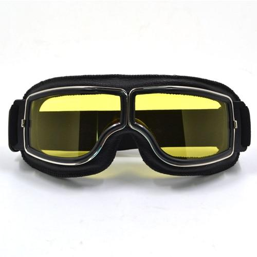 TMS Leather Retro Goggles The Mighty Skull ™ Model 2