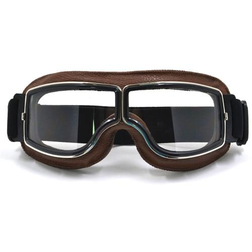 TMS Leather Retro Goggles The Mighty Skull ™ Model 5