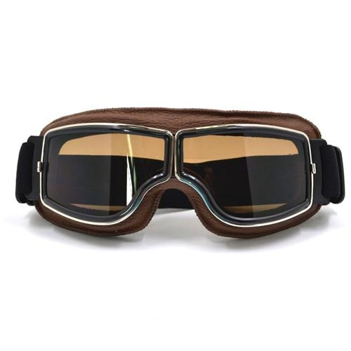TMS Leather Retro Goggles The Mighty Skull ™