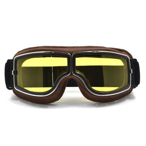 TMS Leather Retro Goggles The Mighty Skull ™ Model 6