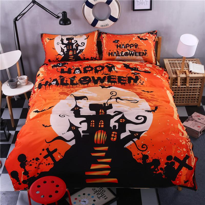 Halloween Bedding Set bedding set The Mighty Skull ™ halloween day King
