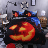 Halloween Bedding Set bedding set The Mighty Skull ™ pumpkin Full