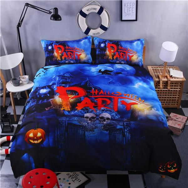 Halloween Bedding Set bedding set The Mighty Skull ™ skull party Full