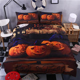 Halloween Bedding Set bedding set The Mighty Skull ™ three pumpkin Full