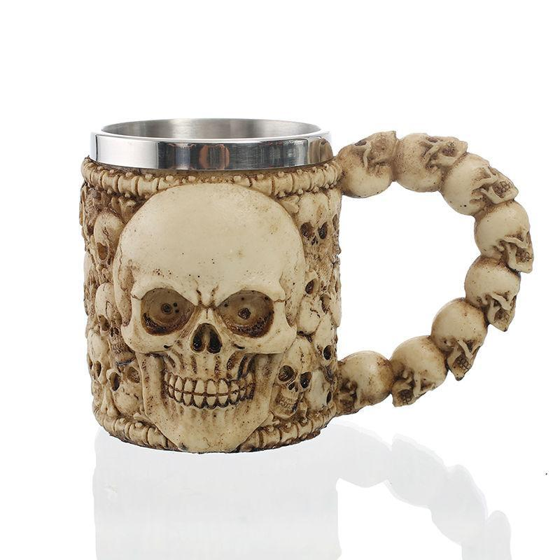 """Bad to The Bone"" Skull Mug Mug The Mighty Skull ™"
