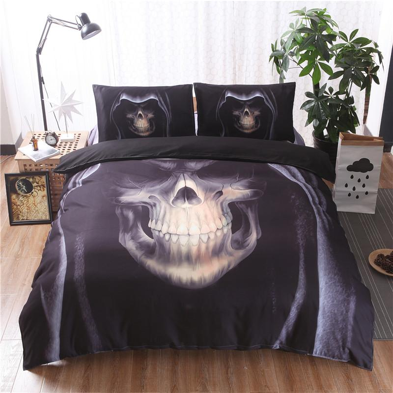 Dark Skull Bedding Set bedding set The Mighty Skull ™