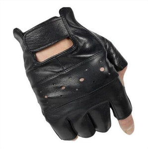 Motorcycle Gloves Half Finger The Mighty Skull ™ Hole