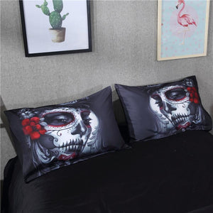 3D Skull Makeup Bedding Set bedding set The Mighty Skull ™