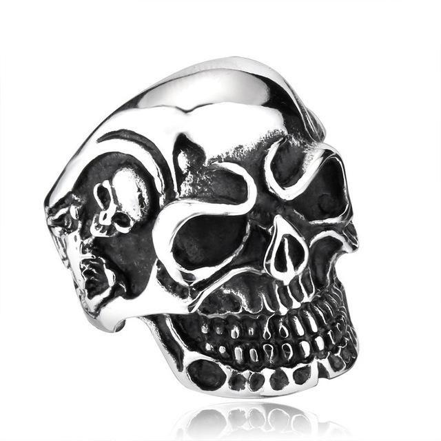 Triple Skull Ring ring The Mighty Skull ™ 7 steel color