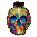 The Mighty Skull Hoodies hoodies The Mighty Skull ™ COLORFUL SKULL 4XL