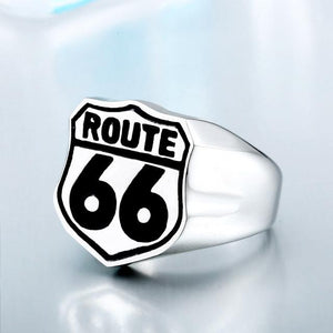 Route 66 Badass Ring ring The Mighty Skull ™ 8 Silver Color